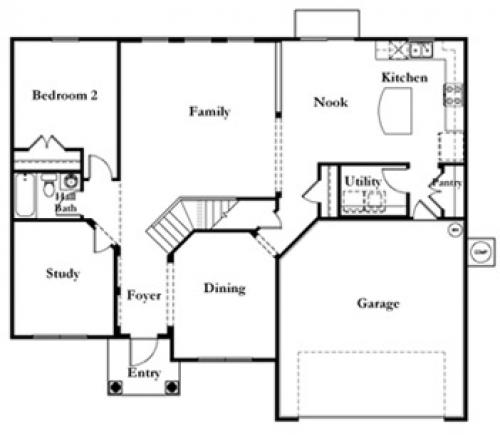 Mercedes homes ascott bay floor plan Home plan
